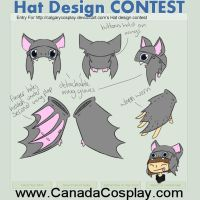 Cute Bat hat and glove combo CONTEST ENTRY by Kaci-Star