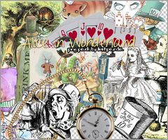 Alice in Wonderland png set by lost--panda