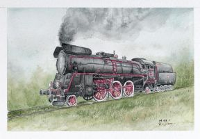 Steam locomotive Ol49 by czajka