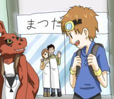 Takato and Guilmon departure by taichikun14