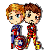 Captain America and Iron Man by Valorie-Sonsaku