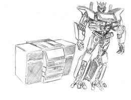 Movie Soundwave concept sketch by Tramp-Graphics