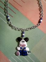 Necklace with Hello Spank and pearls fimo by bimbalove81