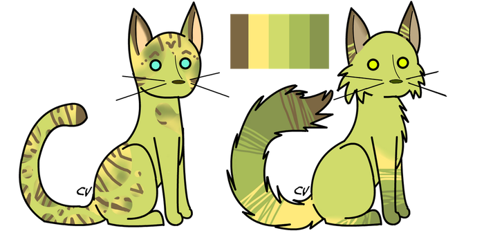OPEN REDUCED PRICE Single Palette DoubleCat Adopt5 by StarphishyAdopts
