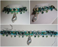 Sea Princess Jeweled Collar by sadwonderland