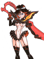 Ryuko Matoi - Kill la Kill by TicoDrawing