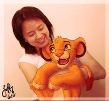 Simba hug by Juffs