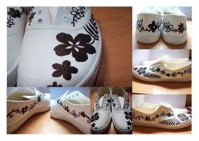 Floral shoes by stardixa