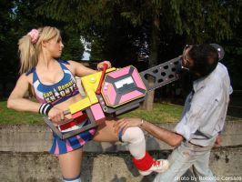 Lollipop Chainsaw - Juliet and the zombie 03 by k-MorrigaN