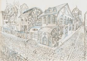 Tina Xuan's house sketch by FabienMater