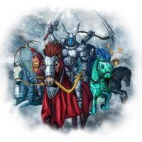 Silent Knight - Four Horsemen of the Apocalypse. by synner