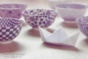 Paper boat journey by TammyPhotography