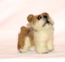 Needle Felted English Bull Dog by The-GoblinQueen