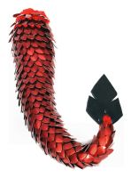Red Dragon Tail by SerenFey