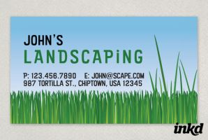 Landscaping Yardwork Business by inkddesign
