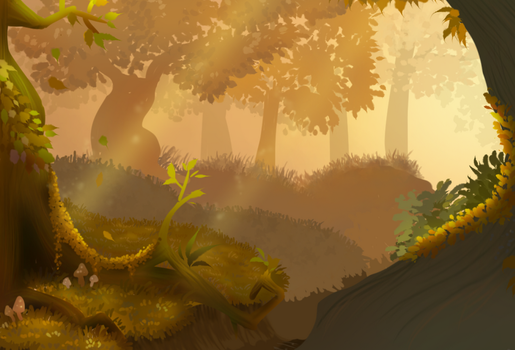 Autumn forest by DP-draws-stuff