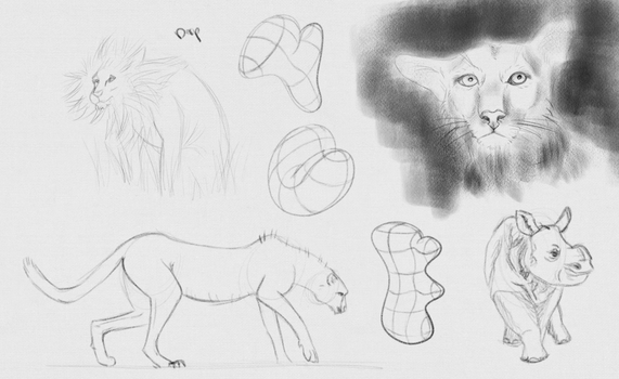 Daily Sketches - 16 April 2016 by RhynnCollins