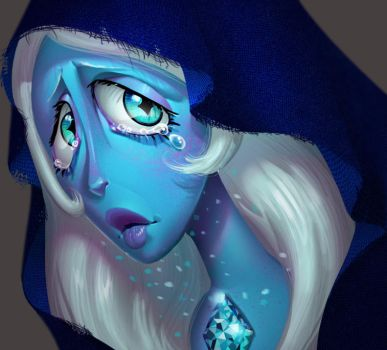 One face a day 182. Blue Diamond (steven univese) by Dylean