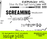 Paramore Text Brushes PShop by xhallelujahx