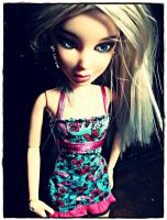 Sophie in a Floral Print Dress by Dollart