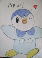 Piplup Heart by Trissacar
