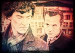 Sherlock and Moriarty VINTAGE by Diarmaida