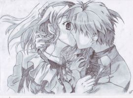 couple kissing-pencil-[copy] by Dante60