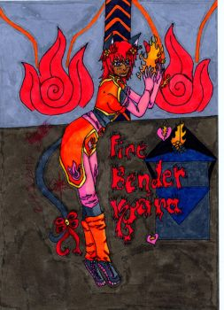 M.A.C.-Avatar Kyeira: Fire Bender Colored by kyeirachan
