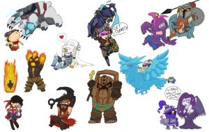 League Of Chibis by CaiteSith