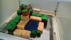 Minecraft cake for My Little Brother! by BleakAce
