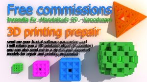 Free Commisions 3D printing prepair by nic022