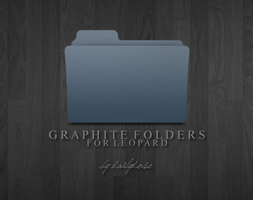 Graphite Folders for Leopard by dailydose