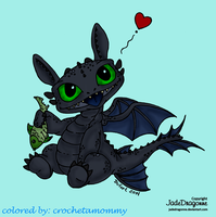 Baby Toothless by crochetamommy