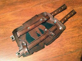 Warhammer orkz leather cuff by Arnakhat