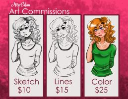 Commisions are OPEN by NilyChanArt