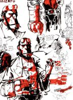 hellboy by severusgraves