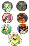 Button badges Current Examples Batch One by Cercus
