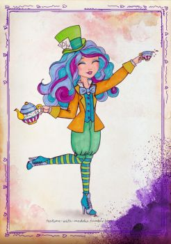EAH Maddie Hatter as Disney's Mad Hatter by WhiteHeather