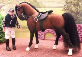 OOAK hand made horse Coco by Tawneyhorses