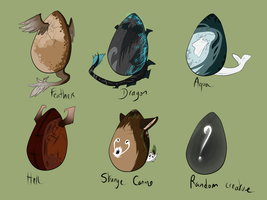 Mystery Eggs ! CLOSED by Eredhys