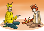 Chestnuts roasting by an open fire by TVPrince