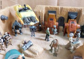 Custom Star Wars Tatooine diorama by BlckThorne