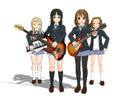 MMD - K-ON Characters by ToaJahli