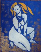 Blue Nude by dlemelin