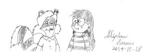 Bentley Raccoon and Candy Chiu by stephdumas