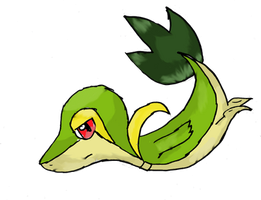 Snivy - # 495. by Meadonroe