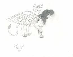 Angel.9 and Sphinx as a Sphinx by Angel9-Rakou-Cobra