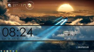 Rainmeter Desktop Simple by C3164070