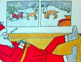 Santa is a busy guy by Lou-in-Canada