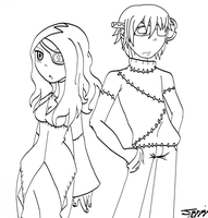 Frank and Marie :lineart: by Jaggerjo12